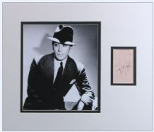 George Raft Autograph Signed Display